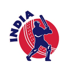 Indian cricket background vector
