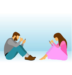 internet social addiction problem vector image