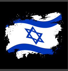 israel flag grunge style spots and splashes vector image