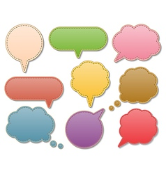 Leather speech bubbles vector