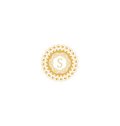 Letter s initial logo for wedding boutique luxury vector