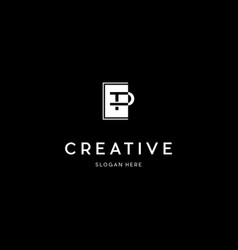 Letter tp creative business logo design vector
