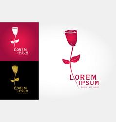 logo rose flower vector image