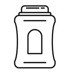 Lotion deodorant icon outline style vector