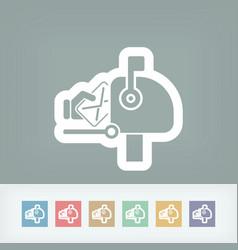 Mail box icon vector