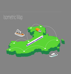 map china isometric concept vector image