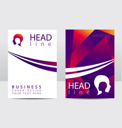 modern cover design template human head vector image