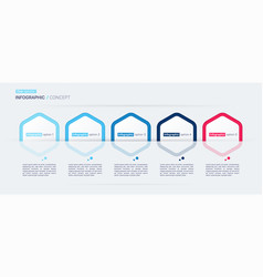 modern infographic concept template five vector image