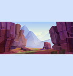 mountain landscape with canyon vector image