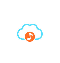 music streaming service cloud icon vector image