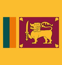 National flag sri lanka vector