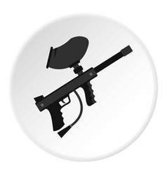 paintball marker gun icon circle vector image