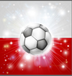 Poland soccer flag vector
