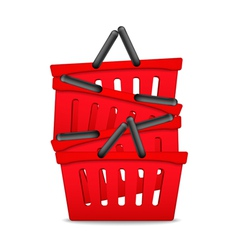 Red Shopping Baskets vector image