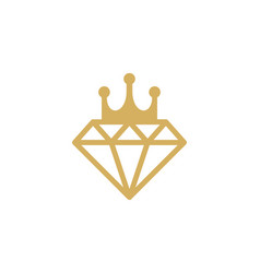 royal diamond logo icon design vector image