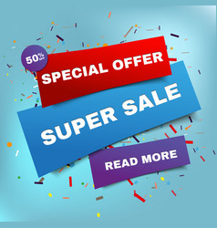 sale banner template and special offer vector image
