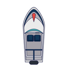 sea boat topview vector image