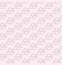 seamless pattern with blueberry in line style vector image