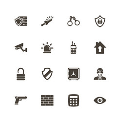 security - flat icons vector image