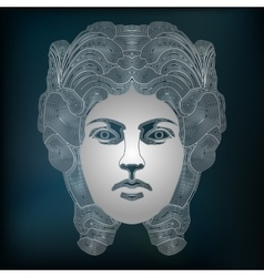 Silver woman portrait zodiac Virgo sign vector image