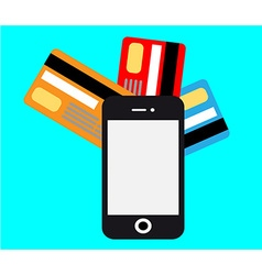 smartphone mobile payment vector image