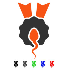 Sperm winner flat icon vector