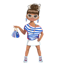 Summer girl is fashion vector