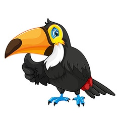 Toucan with happy face vector
