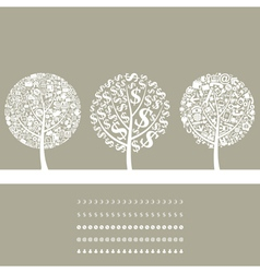 Tree business2 vector image