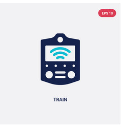 two color train icon from artificial intelligence vector image
