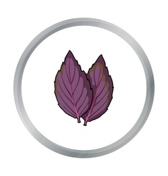Violet basil icon in cartoon style isolated on vector