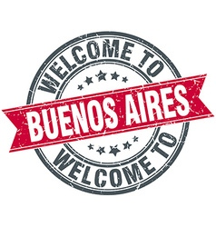 Welcome to Buenos Aires red round vintage stamp vector