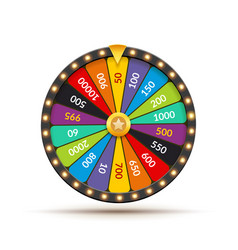 wheel fortune lottery luck casino vector image