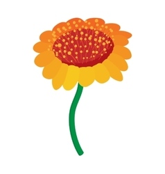 Yellow flower icon cartoon style vector
