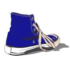 BLUE SHOE vector image vector image