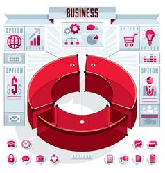 Creative infographics elements concept 3d three vector