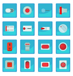 On off switch web buttons icon blue app vector