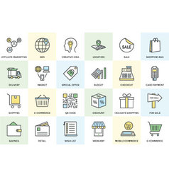 Shopping and Commerce Icons 1 vector image vector image