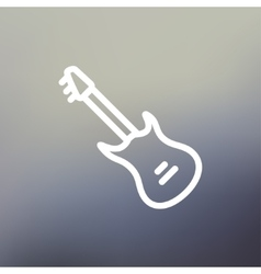 Vintage electric guitar thin line icon vector image vector image