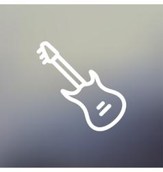 Vintage electric guitar thin line icon vector image