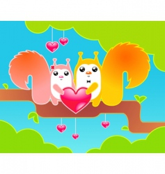 celebrating Valentine's day vector image vector image