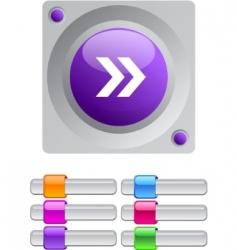 forward arrow color round button vector image vector image