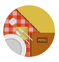 Flat icon for cafe or restaurant vector image vector image