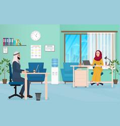 arab business people in office muslim arabic male vector image