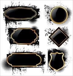 elegant labels on grunge background vector image vector image