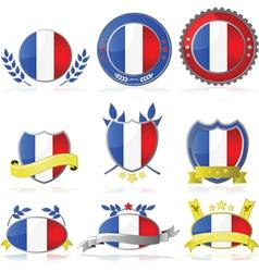 France badges vector image