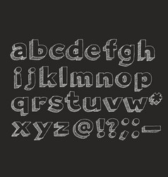 hand drawn alphabet lowercase vector image