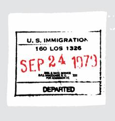 LAX departed passport stamp vector image vector image