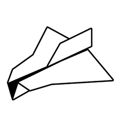 paper plane freedom play outline vector image