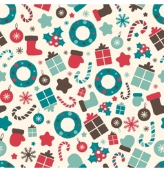 Retro style Christmas patterns Winter background vector image vector image